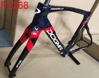 1K F12 Carbon Road Bike Frame Racing T1100 Marco de bicicleta de carbono + Fork + Asiento Posts + Auriculares + Manillar