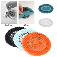 Sink Anti-blocking Floor Drain Cover Shower Drain Strainers Bathtub Stopper Silicone Sink Cover Hair Catchers Bathroom Filter