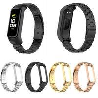 Correa de reloj de acero inoxidable para Samsung Galaxy Fit 2 R220 Beads WatchBand Pulsera Reemplazo de pulsera de lujo Accesorios