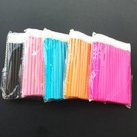 500 teile / los Micro-Bürsten Make-up Wimpernverlängerung Einweg-Wimpernkleber Reinigungsbürsten Kostenloser Applikator Sticks Makeup-Werkzeuge