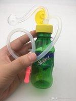 다채로운 저렴한 protable 여행 플라스틱 미니 음료 병 봉수 파이프 오일 장비 흡연에 대 한 물 파이프