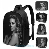 Backpack Funny Graphic Print Margot Robbie USB Charge Men School Bags Women Cosmetic Bag Travel Laptop