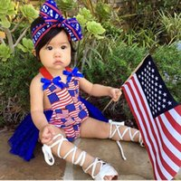 Newborn Rompers Baby Girls Clothes Summer Lace Cotton Star Striped Printed Infant Jumpsuit Toddler One Piece Clothing Princess Dress B7178