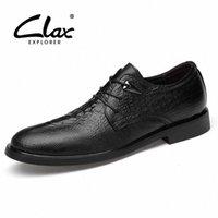 clax 남자 공식 신발 2019 봄 가을 남자 드레스 신발 정품 가죽 남성 사회 신발 악어 결혼식 신발 K5RC #