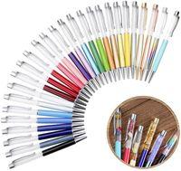 Criativo DIY em branco ballpoint caneta estudante glitter escrevendo canetas coloridas