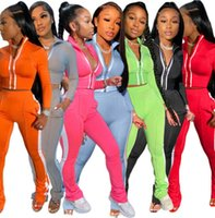 Fashion Women Tracksuit 2 Piece Oufits Sports Leisure Long Sleeve Flared Pants Outfits Zipper Top Trousers Jogging Suit
