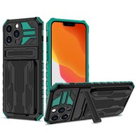Armor Protective Cases invisible Anti-drop bracket TPU PC phone case For iphone 13 pro max 12 11 xr 7 8 Mobile Back Cover