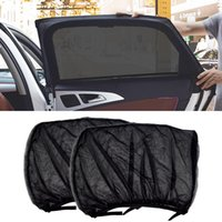 Auto Sonnenschirm CEYES 2 STÜCKE STYLING ZUBEHÖR Sonnenschirm Auto UV Schutzvorhang Side Window Mesh Visier Schutzfilme