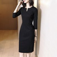 Casual Dresses 2021 Spring Women Pencil Dress Slim Professional One Step Lady Work
