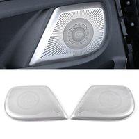 Pour Mercedes-Benz V-Classe W447 2015-2020 Haut-parleur de voiture Couverture de la porte en acier inoxydable Sound Pad Cadm Cadre Cadre Sticker Accessoires