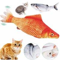 القطة واقعية لعبة الأسماك USB الكهربائية شحن محاكاة الرقص القفز تتحرك مرن الأسماك القط لعبة للقطط اللعب التفاعلية 30 سنتيمتر حار بيع