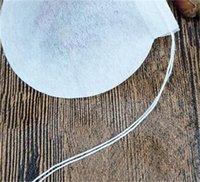 100 pezzi / lotto borse da tè rotondo Borsa da filtro del tè vuota con tabulato di carta stringa per tè allentato monouso 12 V2