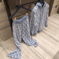 diseñador mujer ropa primavera 2021ss chenille cómodo cálido graffiti letra carta reducción de edad casero dulce pantalones con capucha traje mujer
