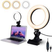 Selfie Ring Lichtclip mit Klemmhalterung Schreibtisch Makeup Video 360 Grad drehbare Ringlampe Dimmbare Farbe Live Dampf Webcam-Licht