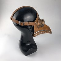 Punk Cuir Plague Médecin Masque Masque Birds Cosplay Costume Carnaval Accessoires Mascarillas Masque Masque Masquerade Masques Halloween 1060 B3