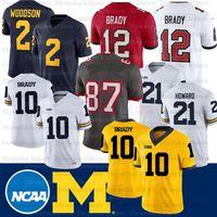 NCAA Michigan Wolverines Jersey 10 Desmond Howard Tom Brady Charles Woodson Shea Patatters College Football Jersey