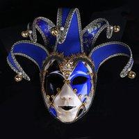 4 colores pintados Halloween Party Mask Mascarillas de rendimiento veneciano de alta gama para mujeres Mascherine Mascar LW-60