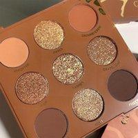 Göz Farı 9 Renkler Zengin Sıcak Çikolata Vahşi Çocuk Göz Farı Paleti Mat Makyaj Glitter Kahverengi Çıplak Pırıltılı PI Q1Z6