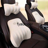 Car Headrest Pillow Seat 7° Space Memory Foam Lumbar Pillow Auto Cartoon Neck Rest Head Support Backrest For Car Accessories