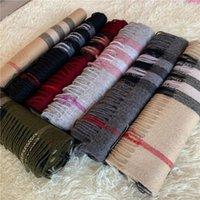 Womens Winter Cashmere Bufanda de alta gama alta suave gruesa moda bufandas para hombre y mujeres diseñadores lujos bufandas con caja de regalo bolsa de recibo etiqueta