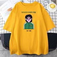 2021 Squid Game T-Shirt Men Women Fashion O-neck Short Sleeve T Shirt Boys Girls Unisex Cool Tops