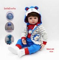 47 cm Bebek Oyuncak Bebekler Yumuşak Silikon Vinil Bebe Reborne Menino Bebekler Oyuncaklar Evi Oyna Çocuk Tatil Hediye LOL Q0910