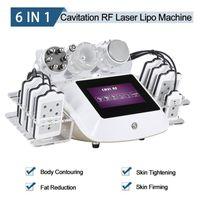 Lazer Liposuction Makinesi 6 1 Ultrasonik Kavitasyon Zayıflama Makineleri 2 Yıl Garanti Lipo Lazer RF Vakum Radyo Frekans Güzellik Ekipmanları