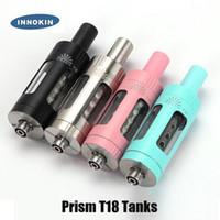 Аутентичные Innokin Prism T18 T18E Распылитель 2.5 / 2 мл. Топ-наполнение воздушного потока Резервуар для 510 резьбовой коробки мод 100% оригинал