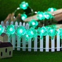 Строки Зеленые Счастливый Четырехлистный Клевер Строка Свет Свет Святого Патрика Декор Ирландский праздник с аккумулятором