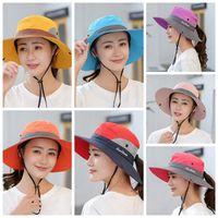 في الهواء الطلق مظلة قبعة الصياد قبعة سيدة لطي كاب الشمس الصيف قابل للتعديل قبعات ركوب الدراجات قابلة للتعديل CYZ2989