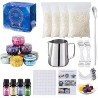 Scented Candles Making Beginners Set Complete DIY Candle Crafting Tool Kit Supplies Beeswax Melting Pot Fragrance Oil Tins Dyes Wicks TE0031