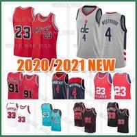 Russell 4 Westbrook Jersey Dennis 91 Rodman Scottie 33 Pippen Kevin 21 Garnett 23 MJ Kuzey Carolina Eyalet Üniversitesi Basketbol Formaları