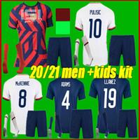 Мужчины + Kids Kit 2021 Соединенные Штаты Футбол 22 22 США Пулис Едлин Брэдли Национальная команда Wood Dempsey AltiDore Usmnt Футболка