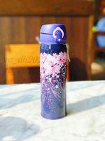 새로운 스타 벅스 밤 사쿠라 스테인레스 스틸 진공 컵 보라색 벚꽃 텀블러 커피 컵 550ml 컵 무료 배송