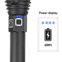 Torce Torce LED USB Ricaricabile Ricaricabile Zoomable Torch Light Display per il campeggio all'aperto Pesca DC156