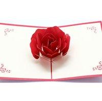New3D розовые поздравительные открытки в день Святого Валентина поздравительные открытки Creative Handmade Valentine Days подарки для женщин EWA6247