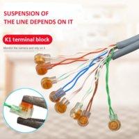 RJ45 커넥터 크림프 연결 단자 K1 커넥터 방수 배선 이더넷 케이블 전화 코드 용어 뜨거운 판매