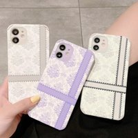 Fashion designer phone cases for iphone 12 11 Pro Max XR XS XSMax 7 8 plus Beautiful flower Classic Retro leather shell with box