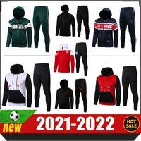 2021 2022 باريس هوديي survetement الرجال الكبار رياضية cer التدريب دعوى دي القدم تشاندال لكرة القدم الركض