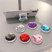 2020 Yeni Tutucu Renkli 3D Gem Halka Genişleyen Elmas Soket Braketi Baz Parmak Üstü Destek Cep Telefonu Standı