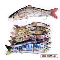 سوبر حجم كبير 4 شرائح الأسماك الاصطناعية vib الصيد السحر 25.5 سنتيمتر 135 جرام الغوص العميق كبير واقعية الليزر مسكي الصيد الطعم السنانير 394 x2