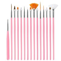 Nail Art Kits 15 pedaços de conjunto com cordão pintado gravação caneta ponto de broca ferramenta de broca atacado
