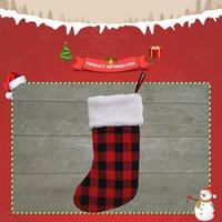 Christmas Decorations Stockings Santa Claus Sock Gift Kids Candy Bag Snowman Deer Pocket Xmas Decoration Tree Ornaments