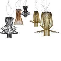 Iluminación moderna Foscarini Allegro Ritmico Luces colgantes LED Lámparas colgantes de Birdcage Italia Lámpara Industrial Lámpara Decoración para el hogar Luminaria