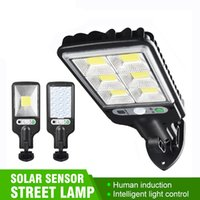 Super Bright Outdoor Solar Light COB Street Light Wall Lamp with Human Body Induction Waterproof Material for Garden Terrace etc