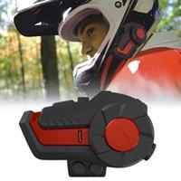 Motorrad Intercom Bluetooth Headset Helm Intercom Full-Duplex Wasserdichte Wireless Rauschunterdrückung Motorrad Walkie mit FM