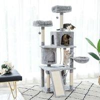 2021 Nova entrega doméstica Escala de escala Ranhagem Árvore Raspão Post Mobiliário Home Ginásio Gato Toy Jump Platform 9R4G