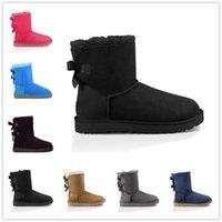 Migliori vendite e alta qualità 2021 Bow-nodo WGG WOMENS WOMENS AUSTRALIA classica Tall Half Sneakers WGGS Bow Girl Snow Winter Stivaletti Stivaletti Scarpe