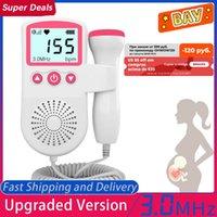 Mise à niveau 3.0MHZ Doppler Foetal Fetal Tarif Moniteur Home Grossesse Bébé Foetal Son Foetal Detecteur de fréquence cardiaque LCD Affichage Pas de rayonnement