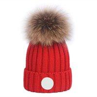 Winter beanie designer women men hat plush pompom warm stretch cap high quality beanies fashion casual trendy headgear multicolor
